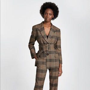 Zara check blazer and pants